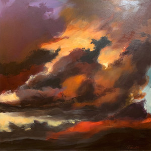 Title: 'Storm's a comin'' Medium: Acrylic on canvas Size: 64cm X 64cm Painting: $1,600 Print: $375 Free freight worldwide