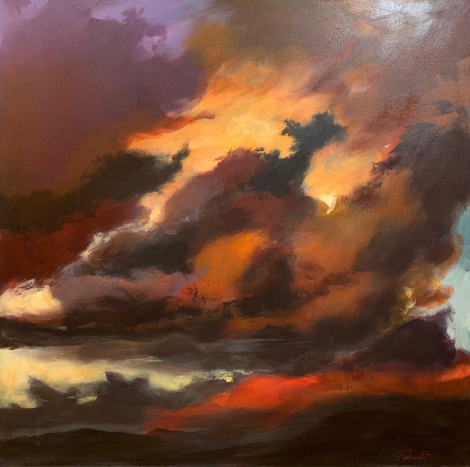 'Storm's Brewing' 64 cm X 64 cm