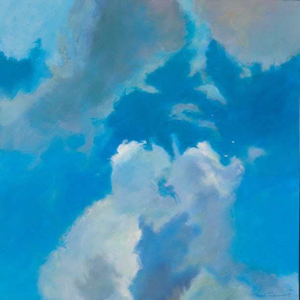 Title: 'Clouds Kissing' Medium: Acrylic on canvas Size: 80cm X 80cm Price: $2,760 Print: $375 Free freight worldwide