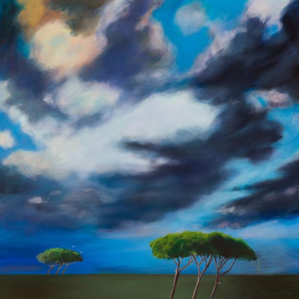 Title: 'Roman Sky' Medium: Acrylic on canvas Size: 80cm X 80cm Price: $2,760 Print: $375 Free freight worldwide