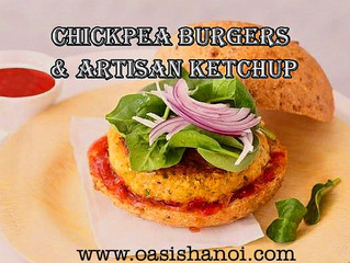 CHICKPEA BURGERS AND ARTISAN KETCHUP