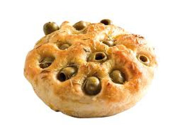 Focaccina with olives