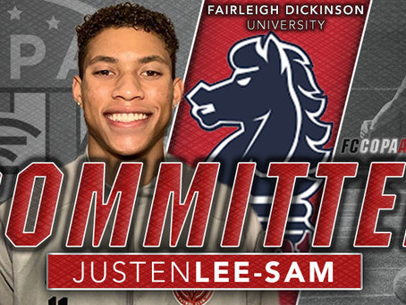 JUSTEN LEE-SAM, CLASS OF 2021, COMMITS TO FAIRLEIGH DICKINSON UNIVERSITY!