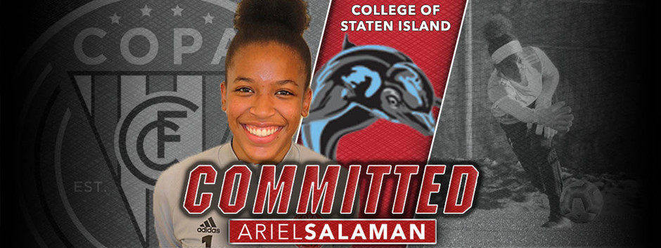 ARIEL SALAMAN, CLASS OF 2021, COMMITS TO COLLEGE OF STATEN ISLAND!