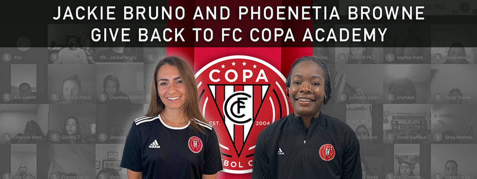 Jackie Bruno and Phoenetia Browne Give Back To FC Copa