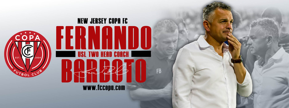 Fernando Barboto Named Head Coach of New Jersey Copa FC
