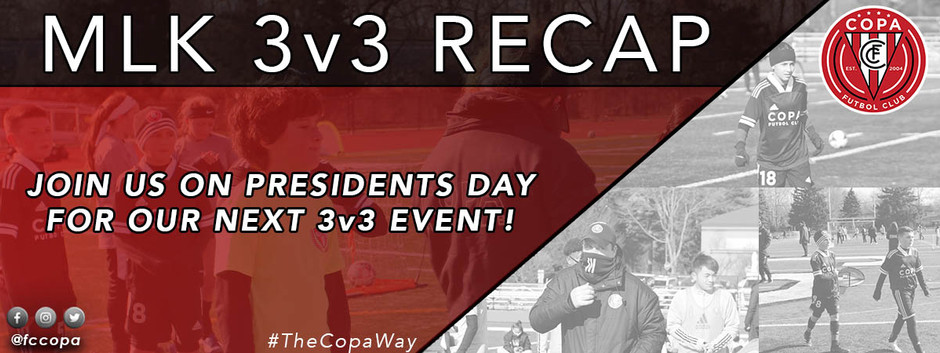 January 3v3 Challenge Sold Out, New 3v3 for Presidents Day Holiday + Goalie Wars and Day Camp