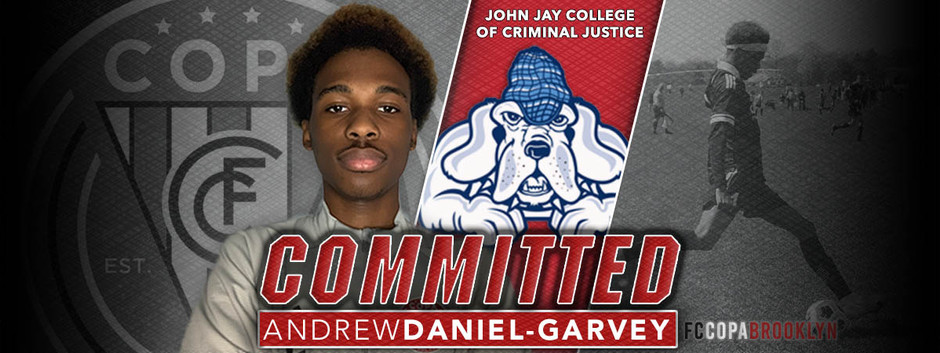 ANDREW GARVEY, CLASS OF 2021, COMMITS TO JOHN JAY COLLEGE OF CRIMINAL JUSTICE!