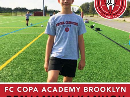 FC Copa Academy Brooklyn Player Spotlight: Benjamin Ilkanhov