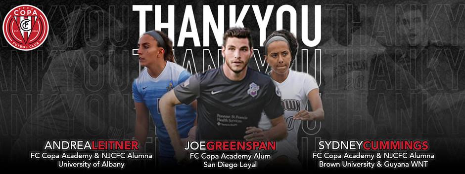Joe Greenspan, Andrea Leitner, and Sydney Cummings Join Latest FC Copa Virtual Series