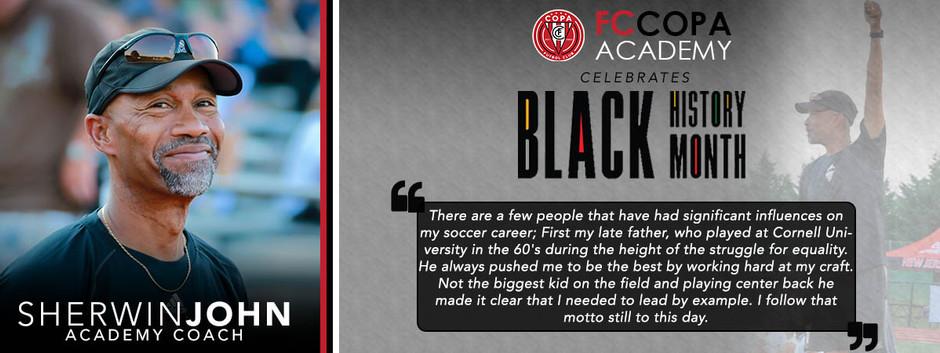 FC Copa Academy Celebrates  Black History Month: Sherwin John