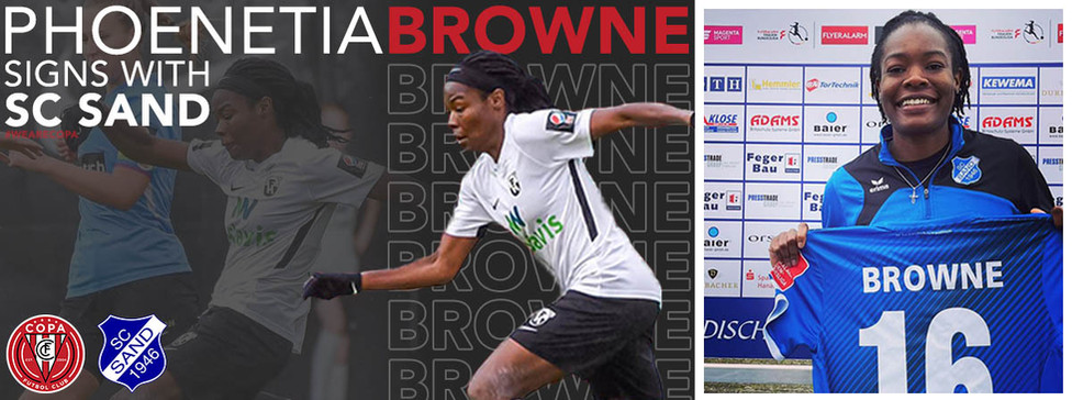 Phoenetia Browne Signs Pro Contract