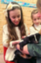 children meeting skunk party exotic animals