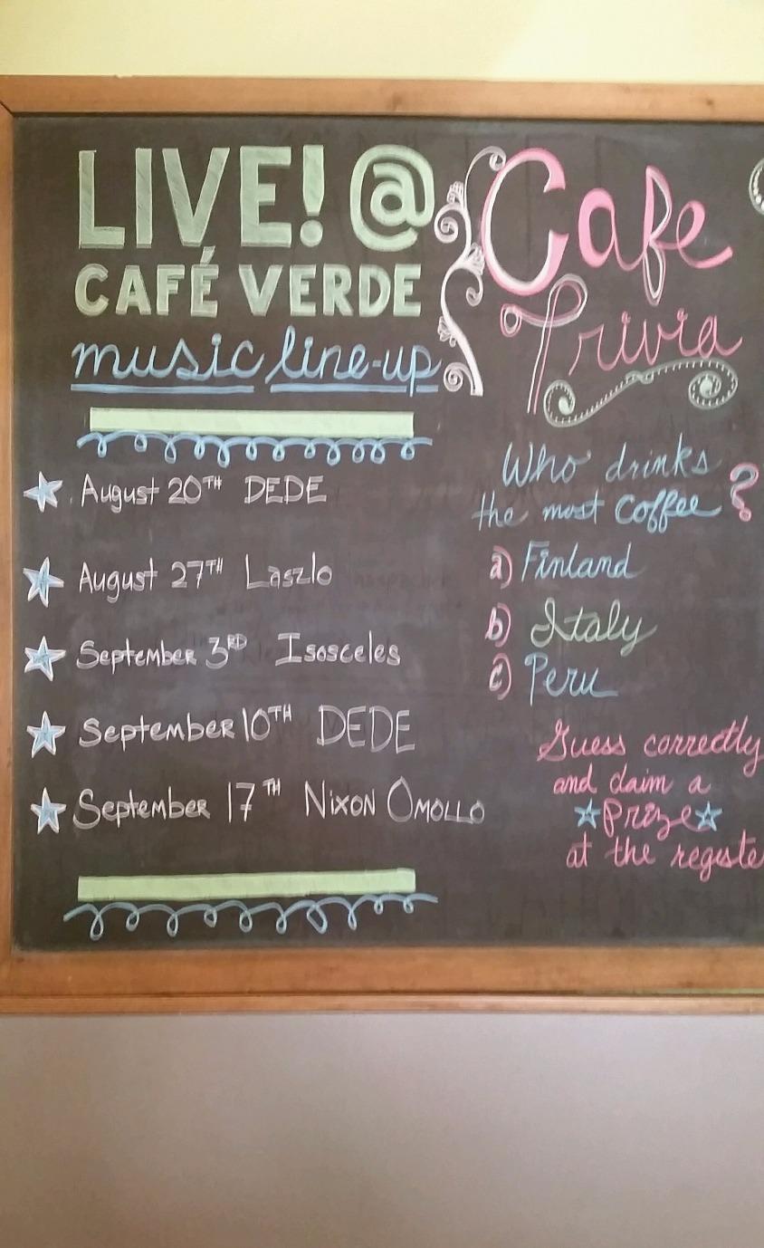 Nixon at Cafe Verde