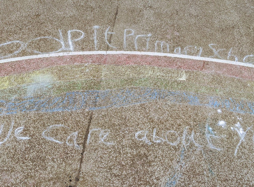 A beautiful chalk rainbow