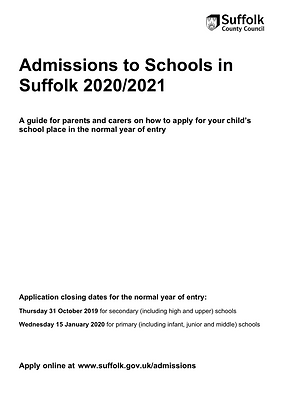 Admissions to Schools Link (2020-21)