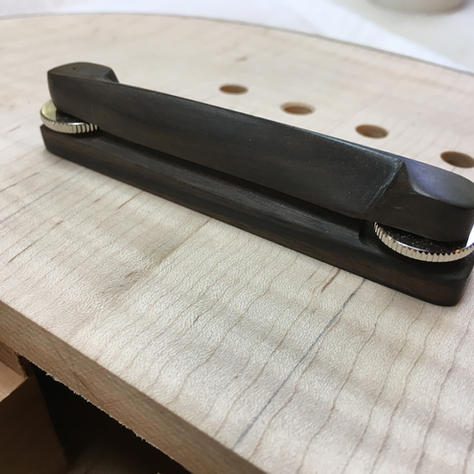 Hand made ebony bass bridge