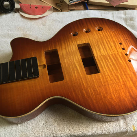 Highly flamed bass top