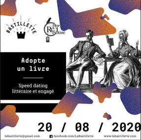 """""""Adopte un livre"""" - speed dating littéraire engagé - 28/08/2020"""