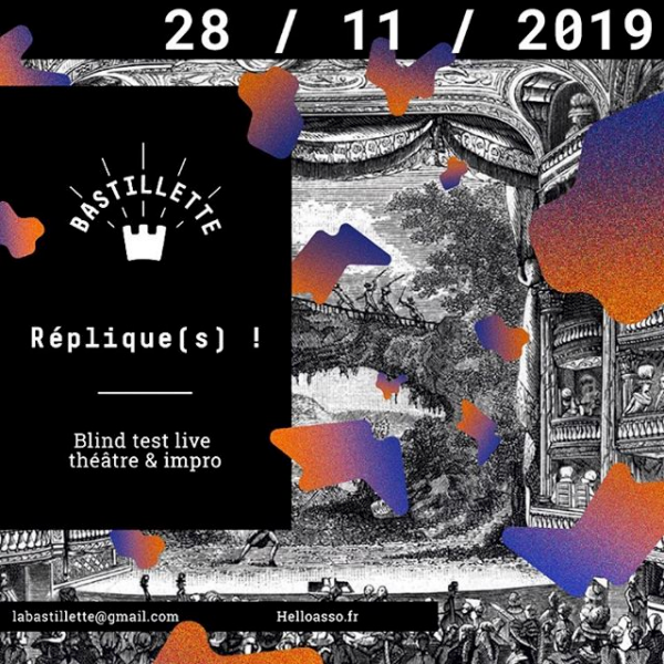 """""""Réplique(s) !"""" – blind test théâtral live – 28/11/2019"""