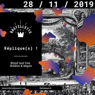 """""""Réplique(s) !"""" – blind test théâtral live - 28/11/2019"""