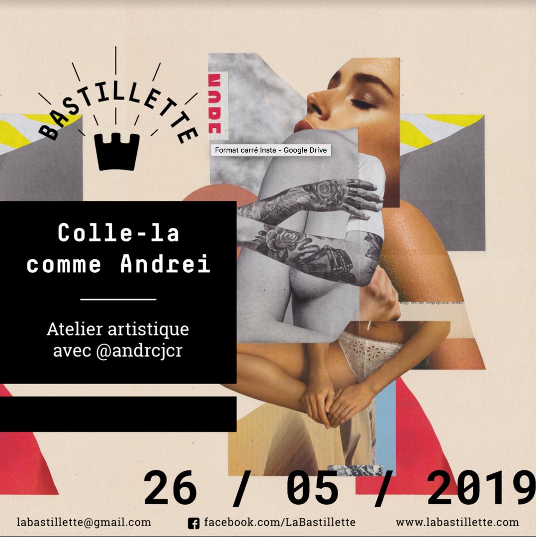 """""""Colle-la comme Andrei"""" – ateliers artistiques – 15/05/2019"""