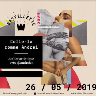 """""""Colle-la comme Andrei"""" – ateliers artistiques – 26/05/2019"""