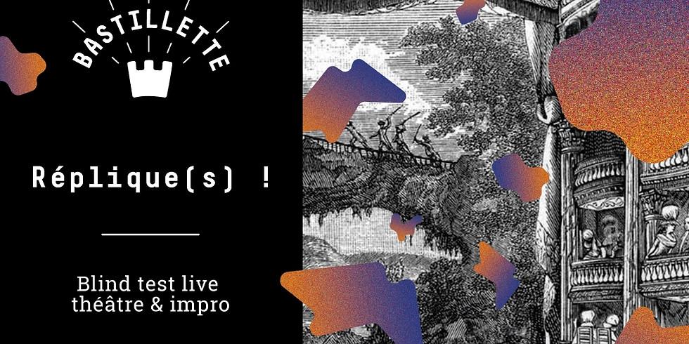 Réplique(s) ! - Blind test live théâtre & impro