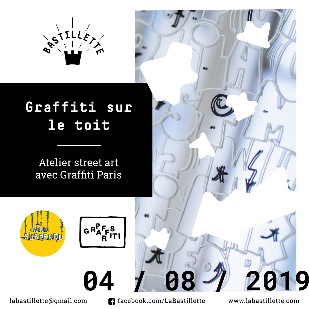 """""""Graffiti sur le toit"""" - atelier street art - 04/08/2019"""