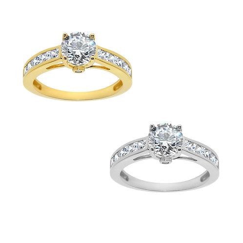 14k Yellow or White Gold 1 1/5ct TGW Round-cut Diamonette Engagement Ring