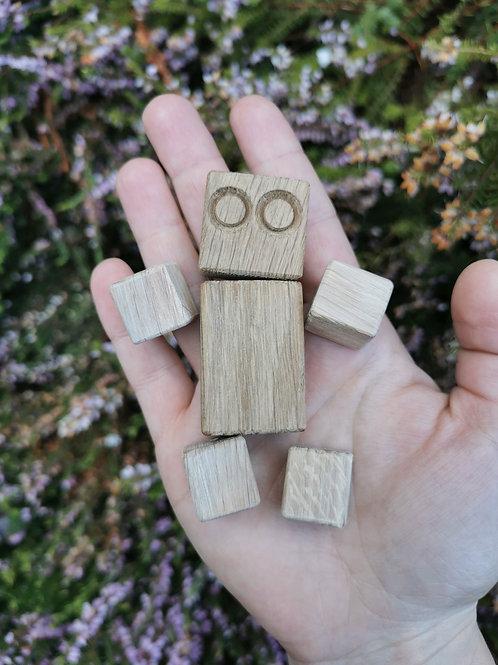 DIY Mini Block Bot (Oak)