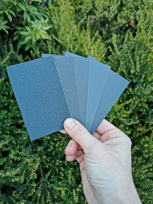 Selection of sanding papers