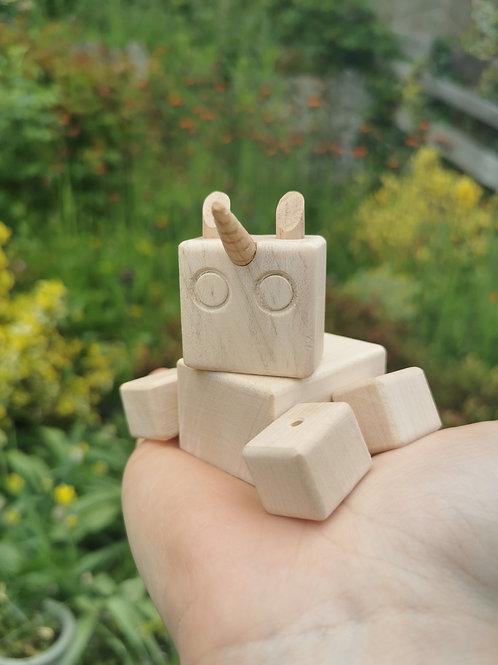 DIY Unicorn Block Bot (white sycamore)