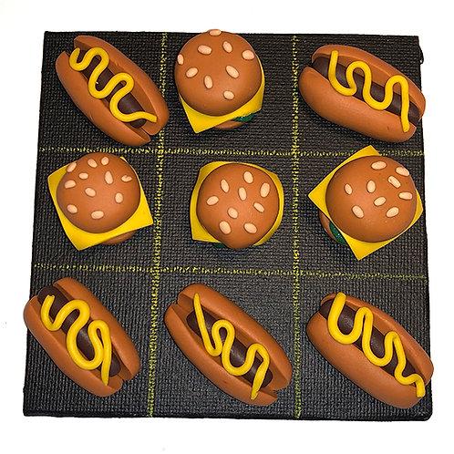 Jeu de Morpion Burgers et Hot-Dogs