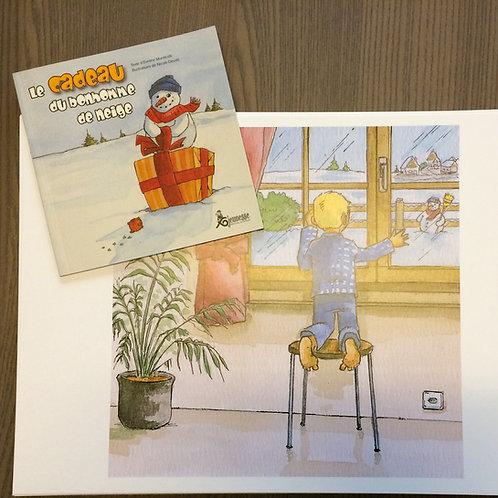 """Planches Kamishibaï """"Le cadeau du bonhomme de neige"""""""