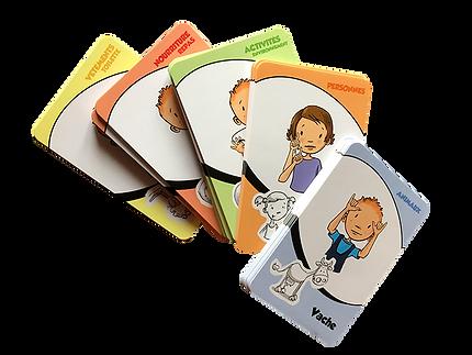 Jeux de cartes langues des signes