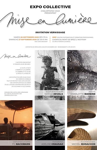 Invit vernissage expo Mise en Lumiere_po