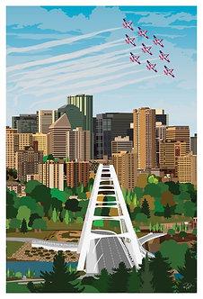 Postcard - 4x6 - Canadian Snowbirds over YEG