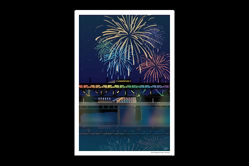 Postcard - 4x6 - Bridges Celebrate