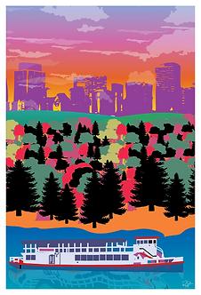 Postcard - 4x6 - Pop Art - Edmonton Queen