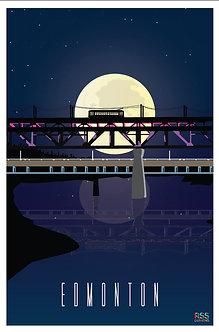 EDMONTON - High level bridge by moonlight