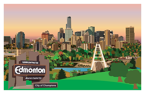 Welcome to Edmonton card