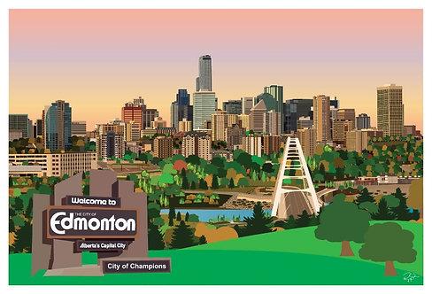 Postcard - 4x6 - Welcome to Edmonton