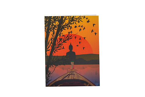 Sunset boat ride card