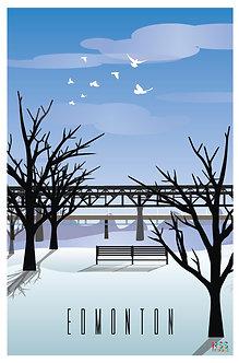 EDMONTON - High level bridge in winter