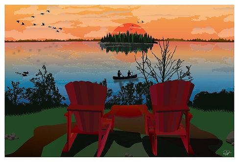 Postcard - 4x6 - Elk Island