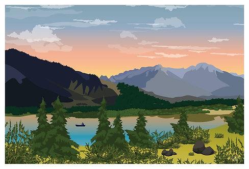 Postcard - 4x6 - Mountain 2