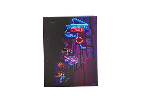 Neon Lights Museum card