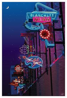 Postcard - 4x6 - Pop Art - Neon Lights Museum