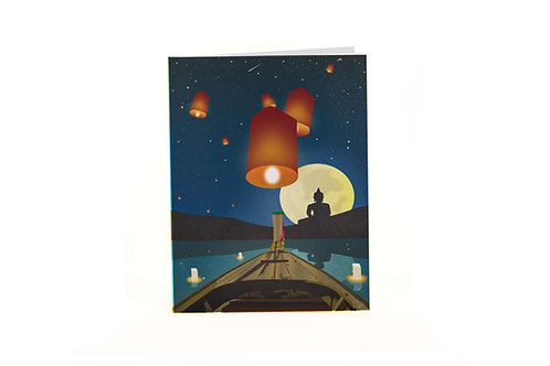 Lanterns in the sky card